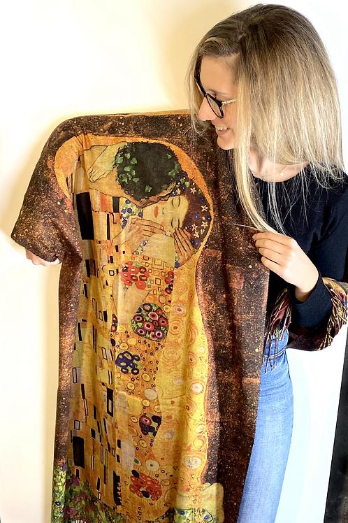 """Sciarpa """"Il bacio"""" di Klimt"""