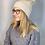 Cappello con Pon Pon - Confezione Regalo beige vista indossato