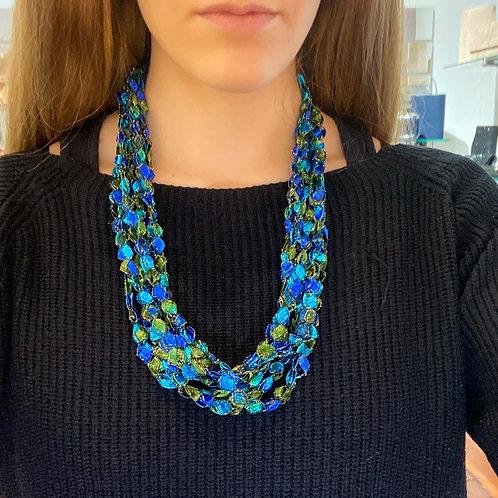 Collana inglese azzurro-verde