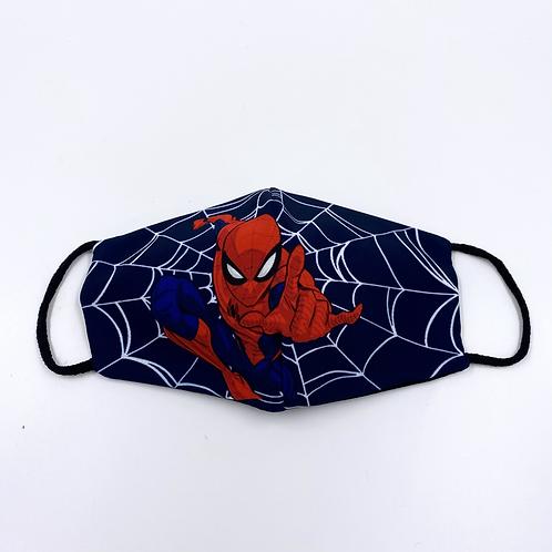 Mascherina bambino spider-man vista frontale
