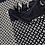 Sciarpa Vogue nera/bianca vista dettaglio