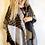 Sciarpona Invernale donna senape vista indossato