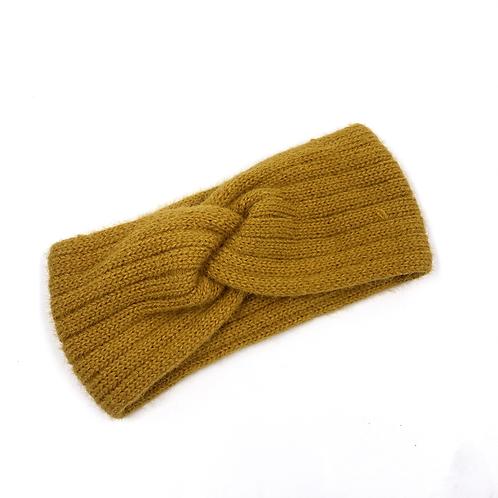Fascia misto lana senape vista frontale