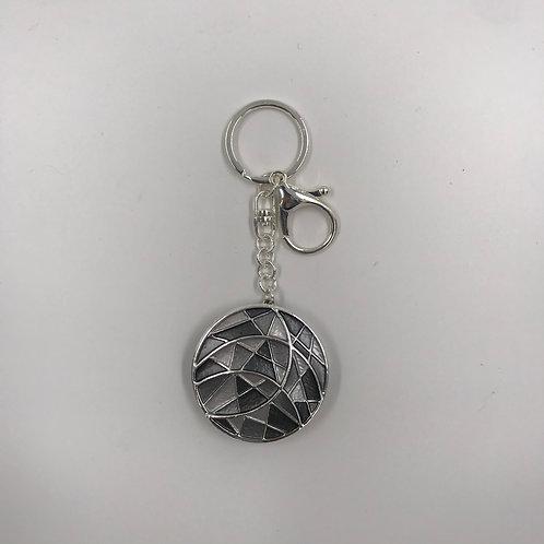 Portachiavi-reggiborsa mosaico grigio
