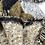 Sciarpona Invernale donna senape vista laterale