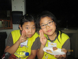 Brownies see stars and s'more on their sleepover!