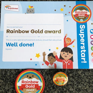 Rainbows Gold Award