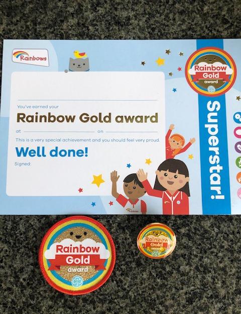 Rainbows Gold Award