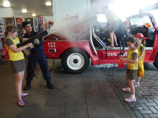 Brownies sizzle at the fire station!