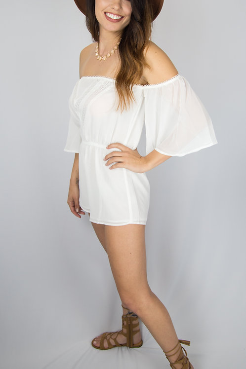 Abby off the shoulder romper