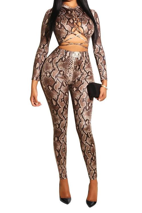 Snake print Bodysuit