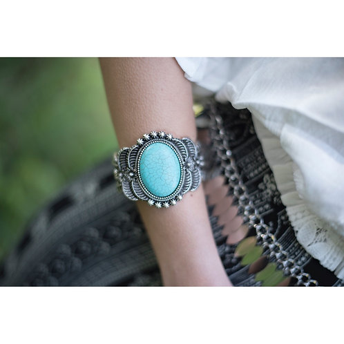 Aqua cuff Bracelet