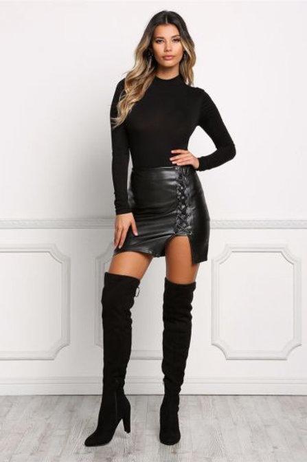 Niki Leather Skirt