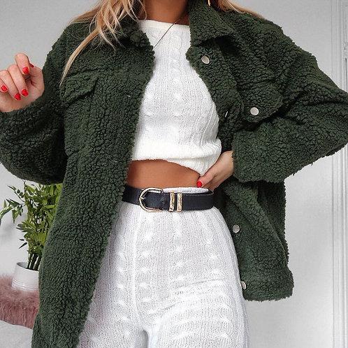 Lapel Button-up Jacket
