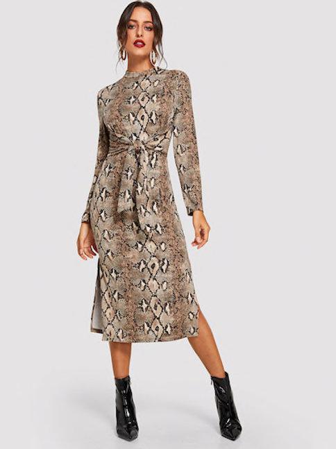 Gina Snake Print Dress