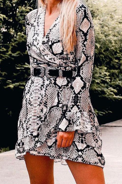 Amanda Snake Print Dress