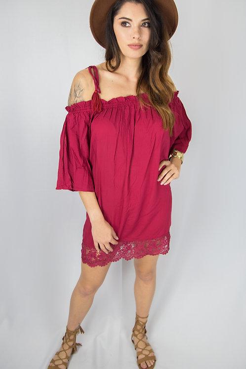 Nayeli Boho Red Dress