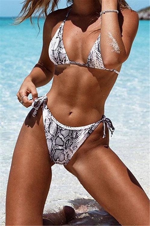 Madina Snake Print 2-piece bikini