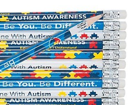 Autism Awareness Pencils