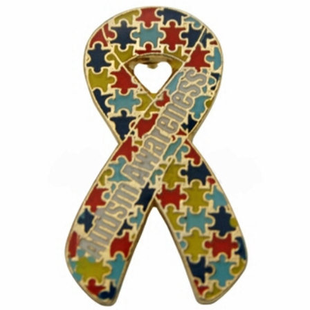 Autism Awareness Ribbon Pin