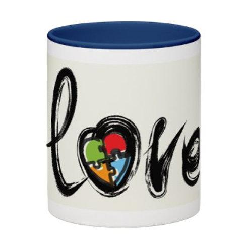 Autism Love Mug (Blue)