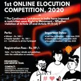 LAWMENTOR'S 1ST ONLINE ELOCUTION COMPETITION, 2020: SUBMIT BY 24th JUNE, 2020