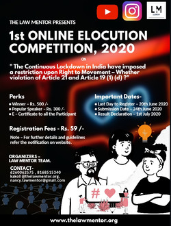 1st elocution Competition