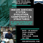 Free Webinar on Indian Judicial System By Legal Education Experts on Aug 30th: Register Now