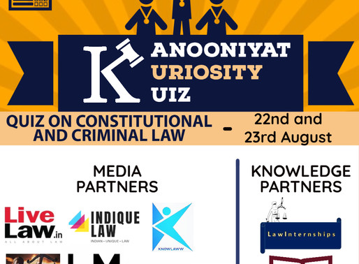 The Kanooniyat Kuriosity Kuiz Series: 1st National Online Quiz Competition : Register by Aug 20