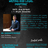 Online Workshop on Legal Research and Legal Drafting [April 25th, 26th]: Register Soon: Limited seat