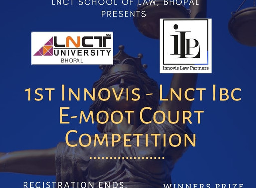 1st INNOVIS- LNCT IBC E-MOOT COURT: REGISTER BY MAY 12, 2020