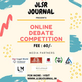 ONLINE DEBATE COMPETITION BY JLSR : REGISTER NOW!!