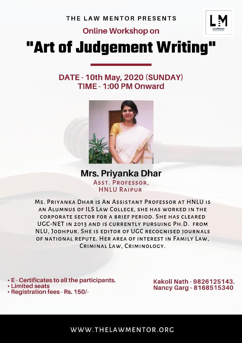 Art of Judgement Writing