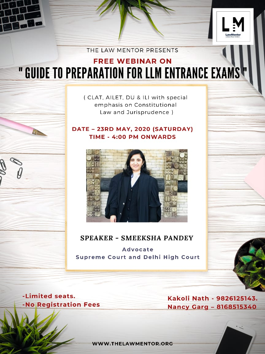 """Guide to Preparation for LLM Entrance Exams"" (CLAT, AILET, DU & ILI with special emphasis on Consti"