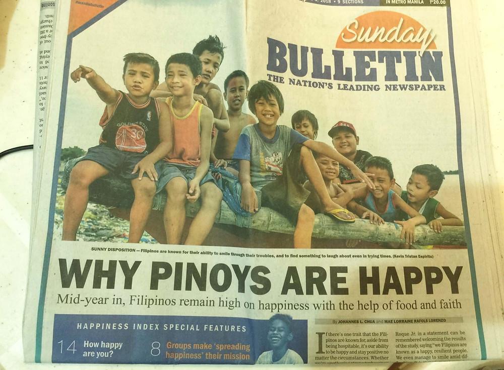フィリピンの人の幸福度は高いらしい
