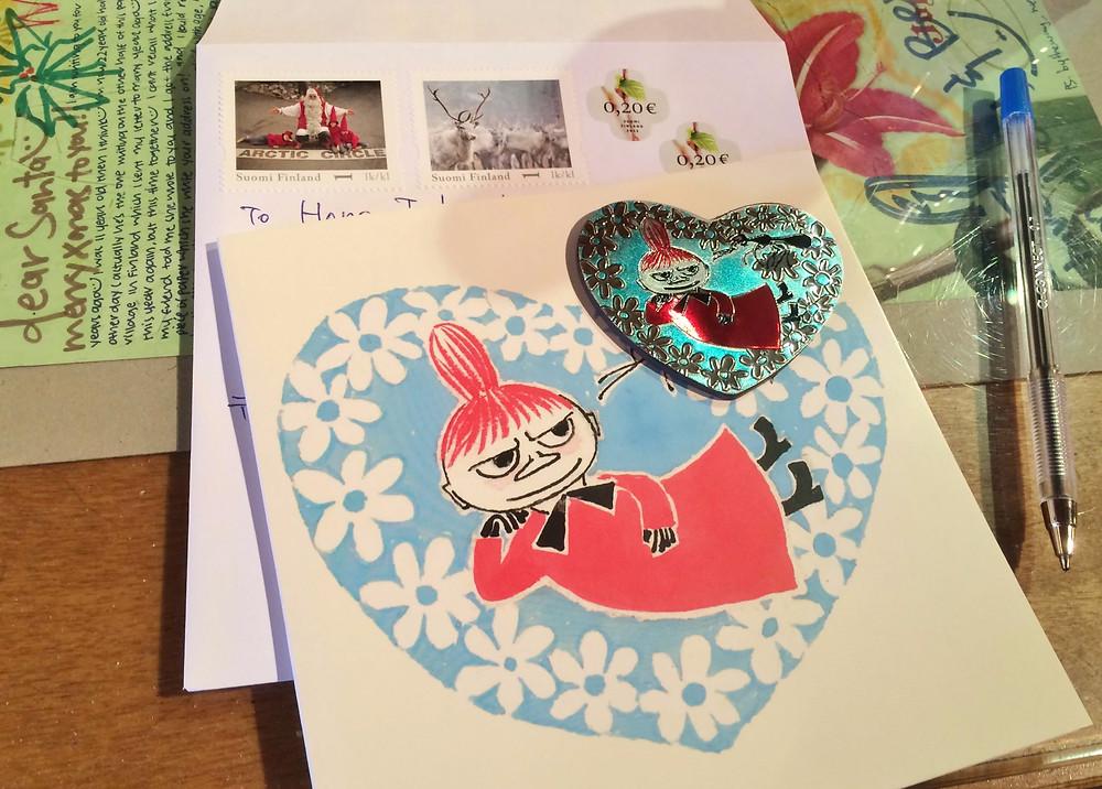 サンタの郵便局から愛娘へ手紙