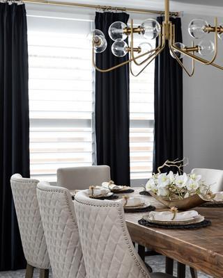 interior design, luxury, dinning room, white dinning chairs, tufted chairs, high end, interior designer, richmond, texas, houston interior designer