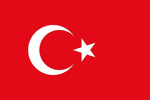 Pavillon Turquie 30x45cm