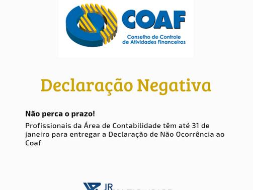 Profissionais da Área de Contabilidade têm até 31 de janeiro para entregar a Declaração de Não Ocorr