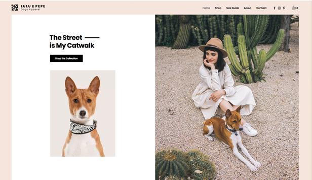 Webshop hjemmesideskabeloner – Dog Apparel Shop
