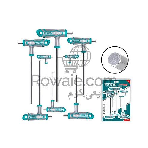 TOTAL T-HANDLE HEX WRENCH SET 8PCS THHW8081 | طقم الانكيا حرف تى يد كاوتش 8 قطع