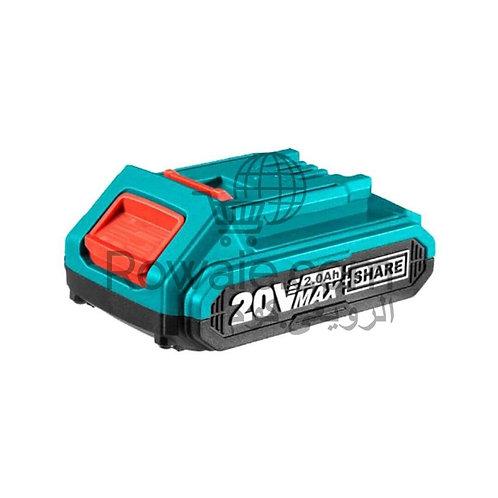 TOTAL TFBLI2001 20V Li-ion Battery 2.0Ah | بطارية توتال 20 فولت ليثيوم 2 امبير