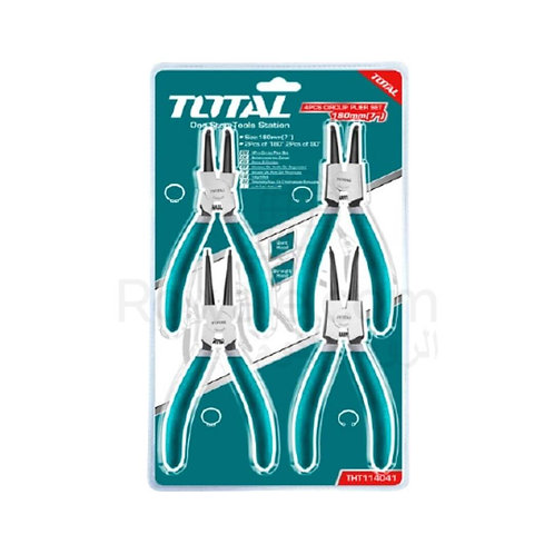 Total THT114041 Cir clip Pliers Set 4pcs | طقم بنس تيل 4 قطع