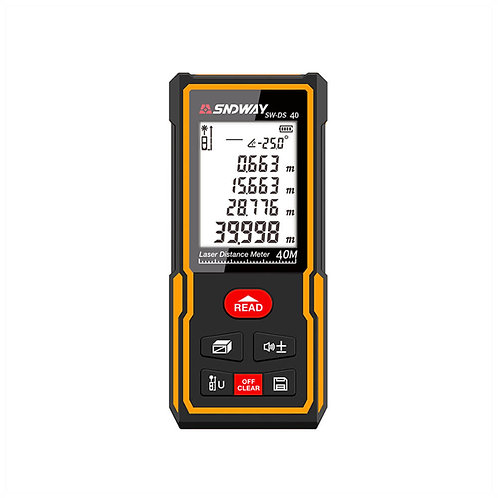 Sndway SW-DS40 Distance and Inclination Measure, 40 Meters, 30 Readings