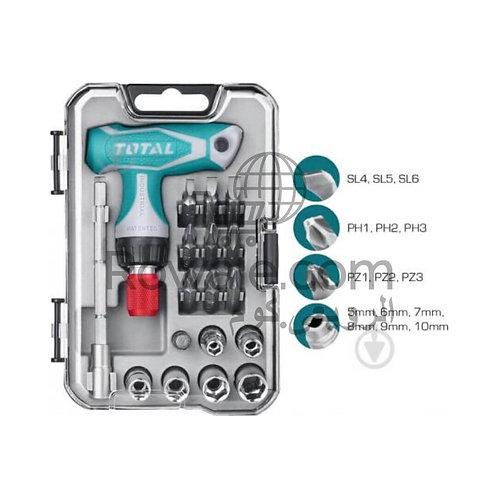 TOTAL TACSD30186 Screwdriver 24Pcs | طقم مفك 24 قطعة