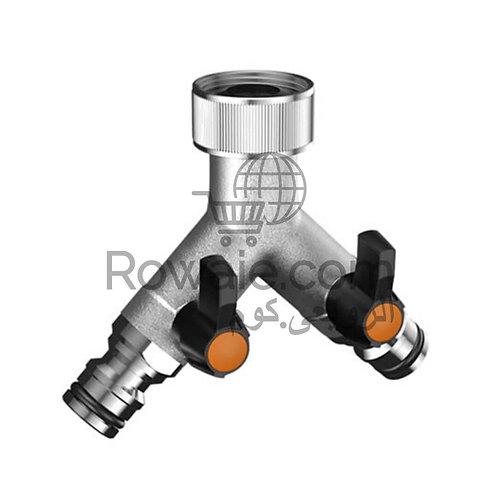 Claber 9602  Adjustable two-way tap connector   وصلة حنفية ثنائية كلابر