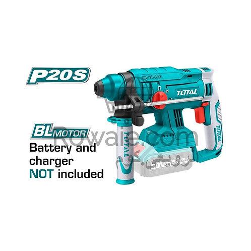 TOTAL TRHLI2201 Li-ion Brushless Rotary Hammer 20v | هلتى 20 فولت بدون شربون