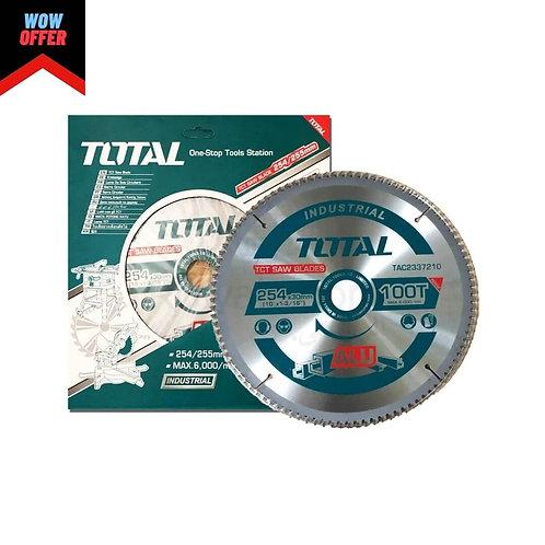 "Total TAC2337210 Circular Saw Blade 10""  | سلاح صينية 10"" الومنيوم 100 سنة"