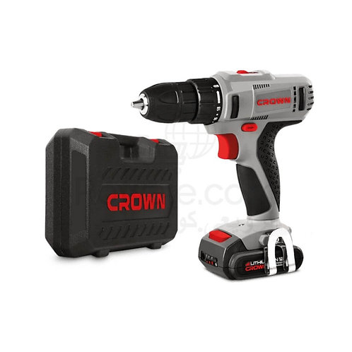Crown CT21056L Cordless Drill 18v 2 Battery Li-Ion | شنيور بطارية 18 فولت