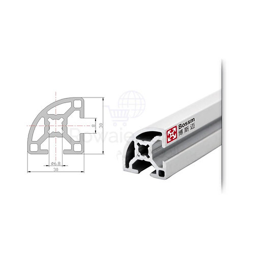 Aluminum Profile MFP-3030R 30*30mm   قطاع الومنيوم 30*30 ملى 1 متر